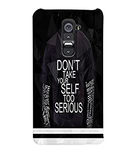 PrintVisa LGG2-Quotes & Messages Attitude Plastic Back Cover (Multicolor)