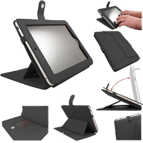 Apple iPad Advanced Pro Case Luxury Executive Wallet / Cover / Stand / Flip Case - Black