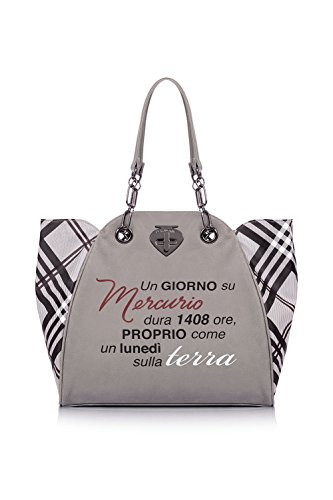 Borsa Shopping | Le Pandorine New Classic | Terra | A/I 2016-17 | AI16DAA01930-Tartan Grey