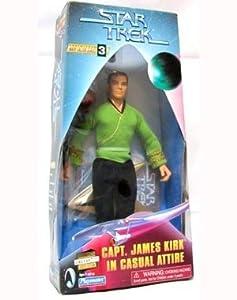 """Star Trek Captain James Kirk in Casual Attire 9"""" Warp Factor Series 3 Action Figure"""
