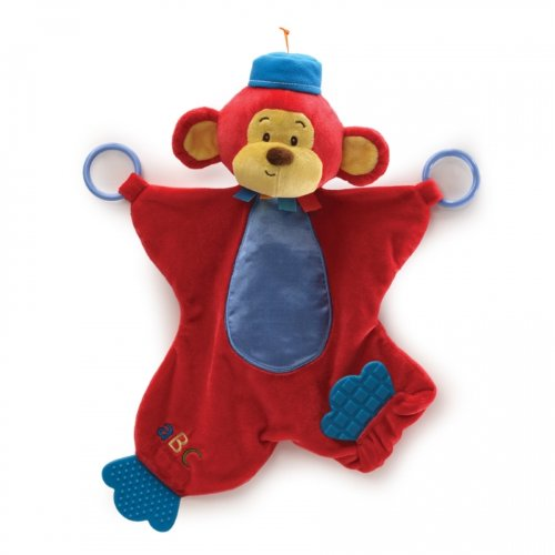 """Color Fun Circus Monkers Activity Blanket 16"""" by Gund"""