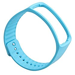MXtechnic Stylish design Replacement Band For Samsung Galaxy Gear SM-R350 Smart Watch Only. (Blue)