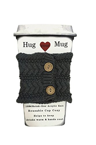 Read About Hug Your Mug Cup Cozy, Reusable Coffee Sleeve Hand Protector Drink Grip for Paper Cups