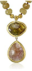 Nava Zahavi Colorful Sapphire 2 Drops Necklace
