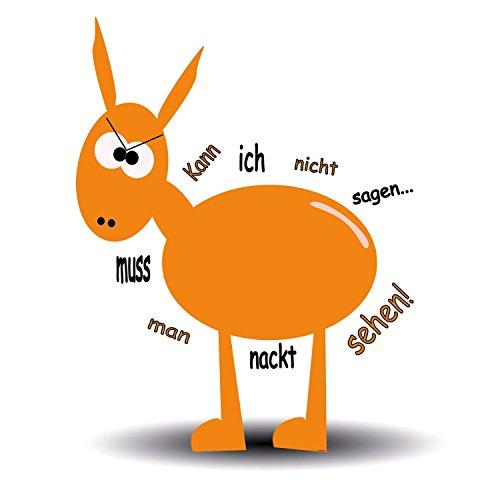 atfolix wandtattoo orange donkey drunkenpets serie kann ich nicht sagen muss ich sehen. Black Bedroom Furniture Sets. Home Design Ideas