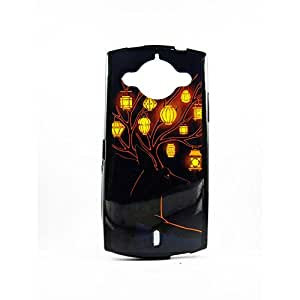 AVER Graphik Hanging Lamps Soft TPU Back Case Cover for Micromax Canvas  A255 Mobile Cell Phone (Black)