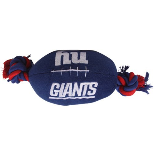 New York Giants Pet Football Rope Toy, 6-Inches long