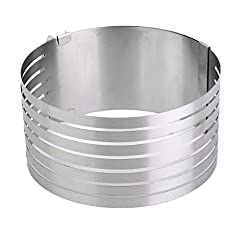 Generic Adjustable 6-8 Inch Stainless Steel Mousse Layered Cake Mold Baking Ring