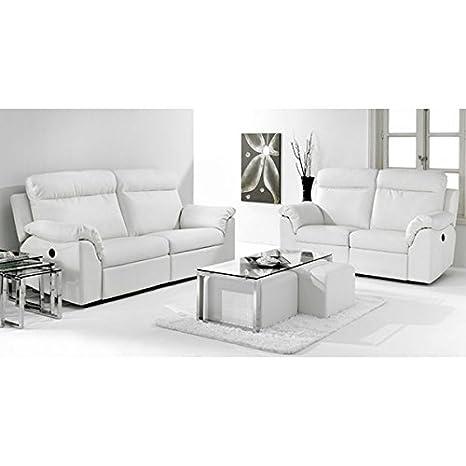 NUEVO HOGAR - Sofá 3 plazas extraible nuevo hogar 86 x 205 cm - 2000450024521 - Blanco