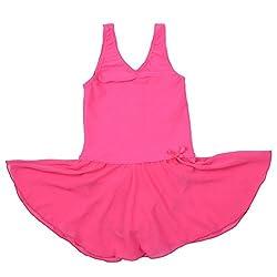 BHL Girls Gymnastics Leotard 3-14 Years (4-6, Hot Pink)