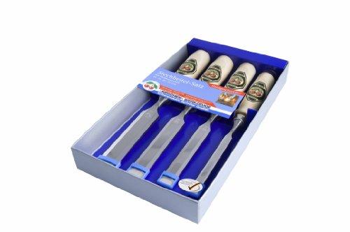 Kirschen-1181000-Kirschen-Stechbeitelsatz-mit-Weibuchenheft-4-teilig-10-26-mm