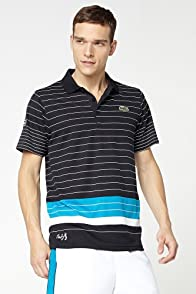 Andy Roddick Engineered Allover Stripe Super Dry Polo