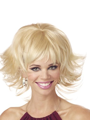 Blonde Wig Shag Cut Short Wig Theatre Costumes Accessory