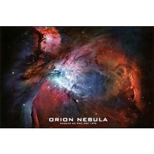 Amazon.com: Orion Nebula Brilliant Space Photo Poster ...