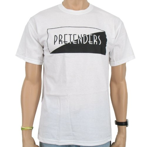 The Pretenders - Classic Logo T-Shirt - White Size:XL