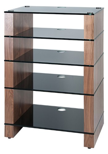 Cheap BLOK STAX DeLuxe 500 Five Shelf Walnut Hifi Audio Stand & AV TV Furniture Rack Unit (B003DVFUXU)