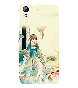 printtech Cute Beautiful Anime Girl Back Case Cover for  HTC Desire 728G