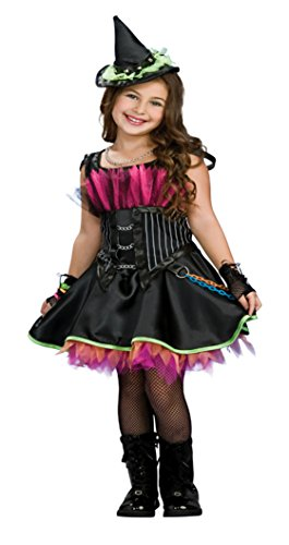 Girls Rockin' Out Witch Kids Child Fancy Dress Party Halloween Costume