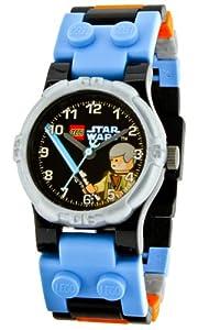 LEGO Kids' 9002939 Star Wars Obi Wan - Reloj para niños de cuarzo, correa de plástico multicolor
