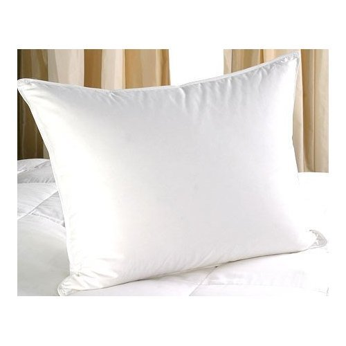 500 Thread Count 750 Fill Power Egyptian Cotton Queen/Standard Size White Goose Down Pillow