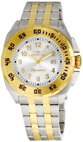 7620014f097a Taylor Bird  Invicta Signature II Two Tone Stainless Steel Mens ...