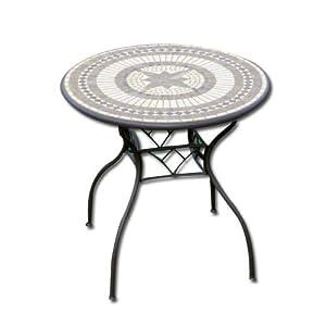Tavolo tondo da giardino con mosaico diametro 102 amazon - Tavolo giardino mosaico prezzi ...
