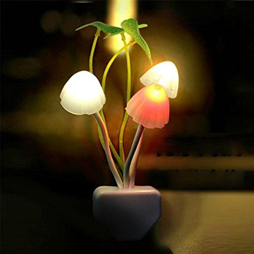 1 X CrazyDeal New Colours Romantic LED Mushroom Dream Night Light Bed Lamp genial comfortable - 1