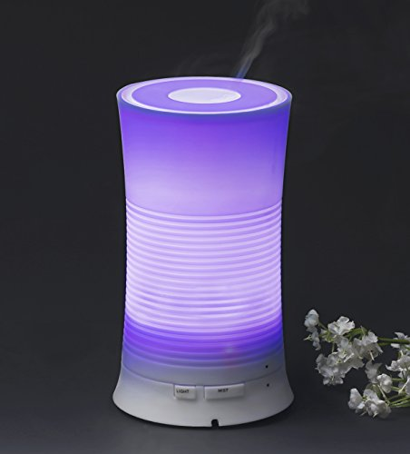 Ultrasonic Essential Oil Diffuser Aromatherapy with Relaxing & Soothing Multi-color LED Light - Perfect for Home, Office, Spa, Etc.
