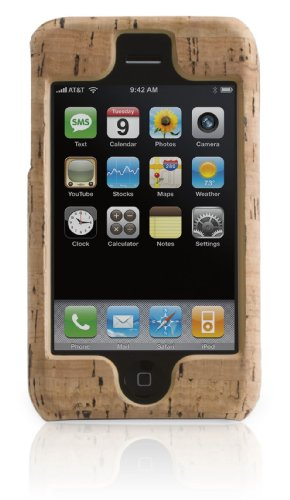 Griffin Elan Form hard-shell cork-tan leather case for iPhone