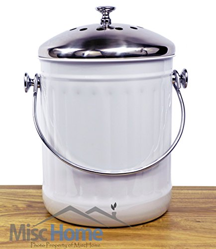 -sale-indoor-kitchen-stainless-steel-compost-bin-white-12-gallon-container-with-double-charcoal-filt