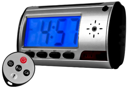 Spy Digital Alarm Clock DVR with Motion Detector w/ 4GB