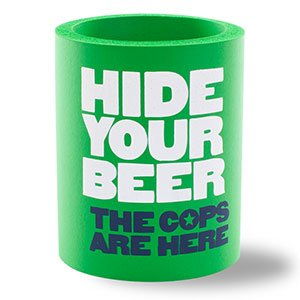 SUPERKOLDIE Hide Your Beer Foam Can Cooler, One Size, 1 Piece, Kelly Green (Foam Cooler Inserts compare prices)