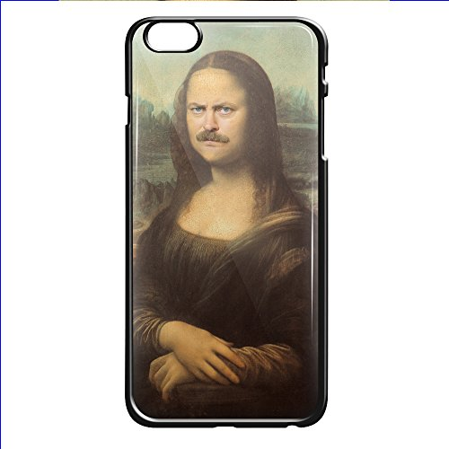 mona-lisa-ron-swanson-nick-offerman-for-iphone-6-6s-black-case