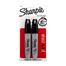 Sharpie Chisel Tip Permanent Markers, 2 Black Markers(38262PP)