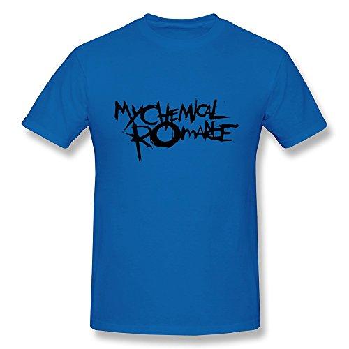 Jeff Men Rock T-Shirt Royalblue Small