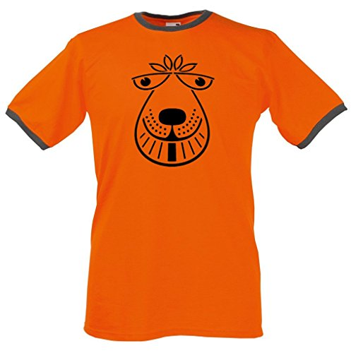 Space Hopper Ringer T Shirt - Men's Classic Retro Tee M