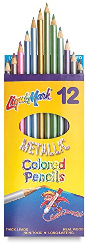 Liqui-Mark Metallic Colored Pencils - Metallic Colored Pencils, Set of 12
