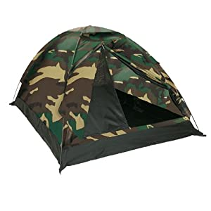 Tente De Camping Igloo 2 Places Camo Camouflage Woodland Etanche Miltec 14208020 Airsoft