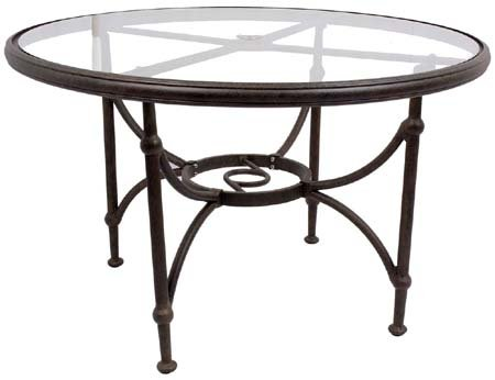 Caluco Origin Round Dining Table 60 Inch with Glass Top