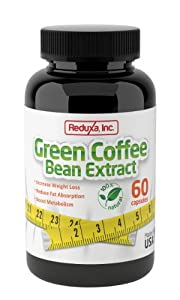 Reduxa Green Coffee Bean Extract Natural Metabolism Boost And Weight Loss Supplement 60 Count from Reduxa, Inc.