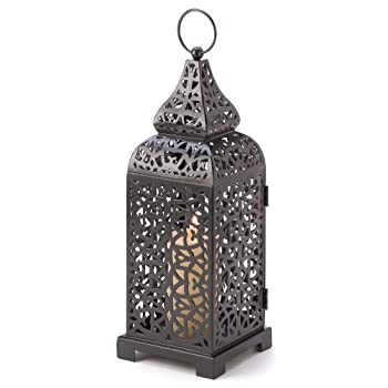 Gifts & Decor Moroccan Temple Tower Candle Holder Hanging Lantern