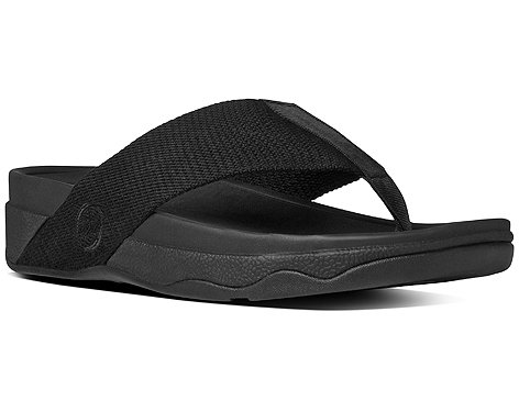 FitFlop Women's Surfa Flip Flop, All Black, 7 M US (Fitflop compare prices)