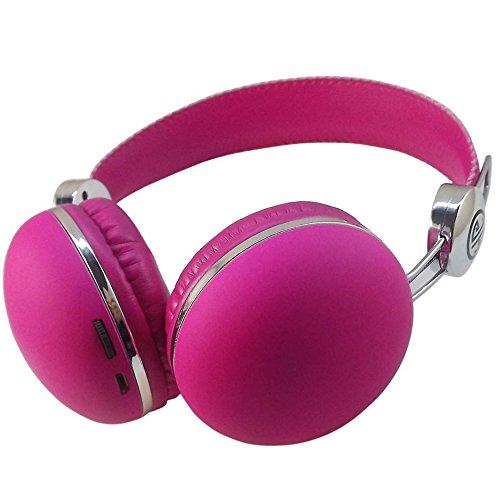 Best_Express Wireless Headwearing Stereo Bluetooth Headsets Wireless Headphones With Bluetooth V4.0 (Pink)