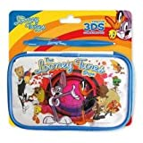 Official Looney Tunes Bugs Bunny and Daffy Duck 3DS DS DSi Lite blue travel protective carry case bag with big Looney Tunes stylus