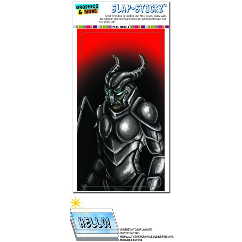 Knight Armor - Medieval Armour Gladiator Warrior Dragon Slayer Fantasy SLAP-STICKZ(TM) Automotive Car Window Locker Bumper Sticker