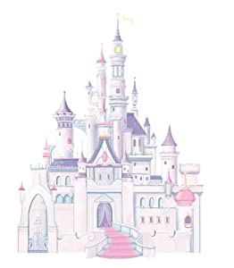 RoomMates RMK1546GM Disney Princess Glitter Castle Peel & Stick Giant Wall Decal by RoomMates