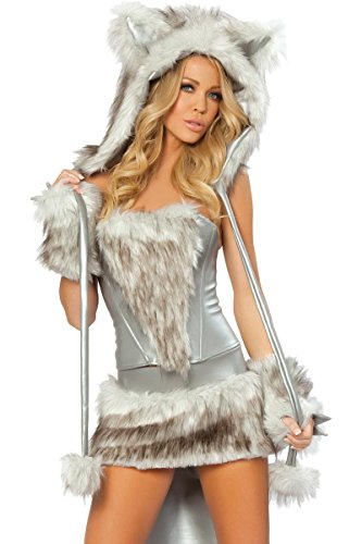 J. Valentine Women's Sexy Lil Wolf Costume 7 Piece Complete Set Sexiest Animal