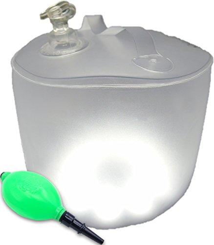 アウトドア・被災時に大活躍! SilverCoral エアーランタン ソーラー充電式LEDランタン [ 防水仕様・防災用品 強力10連灯 ] 折畳めてコンパクトに収納! アウトドアにキャンプやイベントに防災にも! 防水仕様なので雨天でも使用OK! (ホワイト(拡散光タイプ))