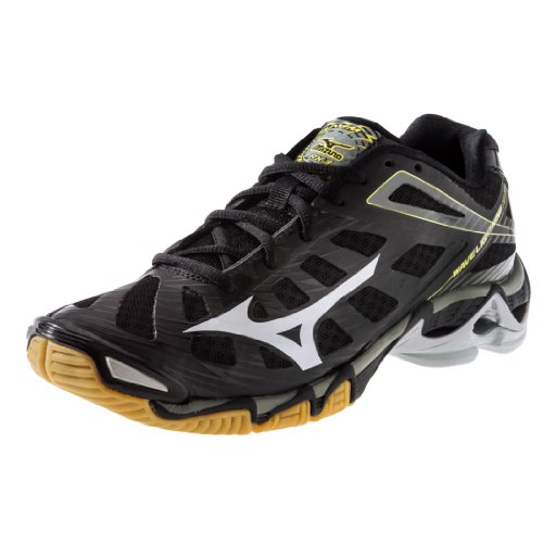 Mizuno Men's Wave Lightning RX3 Volleyball Shoe,Black/Silver,10.5 M US