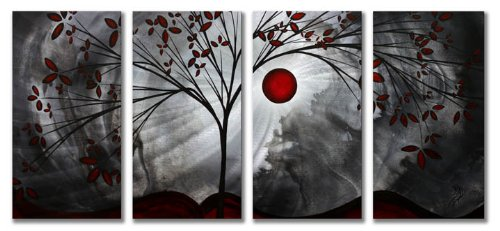 51x24 Megan Duncanson classic beauty modern home decor, metal wall art
